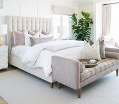Depending on the particular preferences of its designer, a bedroom can be many different things—a cozy, pillow-filled retreat that beckons […] Modern Bedroom Design, Master Bedroom Design, Bedroom Inspo, Interior Design Living Room, Kitchen Interior, White Bedroom Decor, Suites, Easy Home Decor, Beautiful Bedrooms
