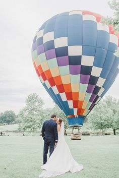Rudy + Rebecca | This Anne Barge Bride soared on her wedding day with a hot air ballon ride! | Featured on the Alyson Taylor Events blog