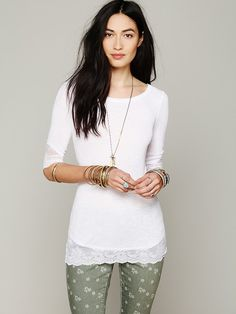 Free People Sheer Scallop Cami, 48.00