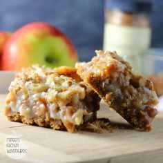 Salted Caramel Apple Magic Cookie Bars Easy to make recipe with great fall flavors!