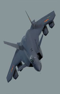 The Chengdu J-20 is a stealth, twinjet, fifth-generation fighter aircraft developed by China's Chengdu Aerospace Corporation for the People's Liberation Army Air Force / #Chengdu #J20 / Source: https://i.pinimg.com/originals/c1/ad/31/c1ad3124e46e1bff43b447068d7fde70.jpg