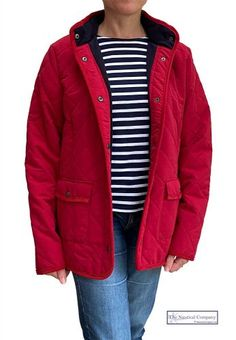 Breton Shirt, Sailor Shirt, Nautical Fashion, Quilted Jacket, Fleece Fabric, Lady In Red, Jackets For Women, Winter Jackets, Sweaters