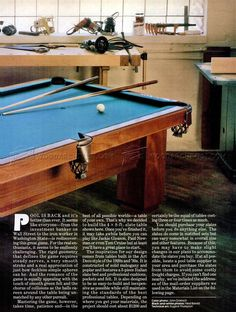 #211 Pool Table Plans   Woodworking Plans