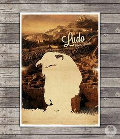 Labyrinth Movie Poster - Vintage Style Magazine Retro Print Cinema Studio Watercolor Background - Pick your Size
