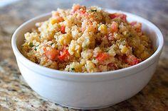 Quinoa-Salat mit Tomaten & Kichererbsen glutenfrei