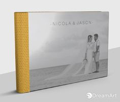 DreamArt Photography share this example of a @graphistudio  Classic Book. Special Thanks to Nicola & Jason! #DreamArtPhotography #DreamArtWedding #WeddingBook #GraphiStudio #ClassicBook #LuxuryBook - Book Size 30x20 cm. 20 Rigid page. Cover crystal glance. Spine and Back Woven Dark Yellow.