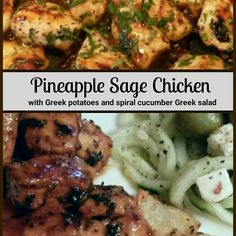 I started by marinating the chicken in a pineapple balsamic and added pineapple sage while sauteing. Sage Recipes, Herb Recipes, Turkey Recipes, Veggie Recipes, Cooking Recipes, Healthy Recipes, Sage Chicken, Salvia Plants, Pineapple Sage