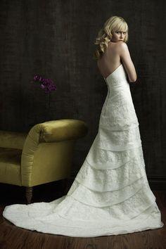 Vestido de noiva Cintura Natural Sem Alças Sem Mangas Cauda Pequeno