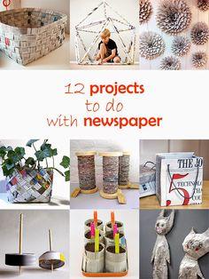 Ohoh Blog - diy and crafts: DIY Monday # Newspaper