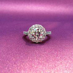 Sometimes our diamonds just want to be AROUND other diamonds.  #halo #engagementring #ringoftheday #dallasjeweler #diamondring #purple #diamonds #love #custom #beautiful #sparkle #engaged #shine #shesaidyes #diamondsareforever #engagement #ringblings #dallas