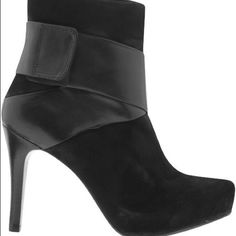 """NWOB Matisse Stormy Black Leather & Suede Boot NWOB Matisse Stormy Black Leather & Suede Boot. Side Zipper Closure · Shaft measures approximately 4"""" from arch · Heel measures approx 4"""" Heel · Boot opening measures approximately 8 around. Matisse Shoes Ankle Boots & Booties"""