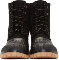 Diemme Black Suede Anatra Duck Boots