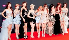 SNSD wearing the most stunning dresses.