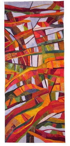 Autumn, California art Quilt by Susan K.Willen.  These colors really tell the story.  And the composition is wonderful.