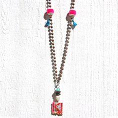 Ethnic Celebration Rosary wood Pendant