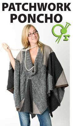 Rework your old knits and find our recycled guides to updating your old knits. Come use the really popular patchwork trend for your latest design Diy Clothing, Sewing Clothes, Old Sweater, Sweater Quilt, Recycled Sweaters, Sweater Refashion, Altering Clothes, Cycling Outfit, Diy Fashion