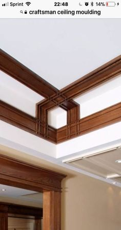 58 new Ideas for craft room furniture ideas wall art - Ceiling design Ceiling Trim, Wall Trim, Ceiling Detail, Door Design, House Design, Trim Carpentry, Moldings And Trim, Crown Moldings, Moulding