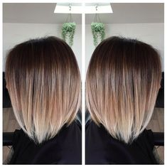 Image result for brunette to blonde short straight hair