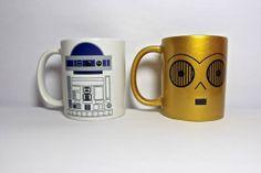 the R2D2 mug along with R3PO mug set  set f by theprintedsurface, $25.00