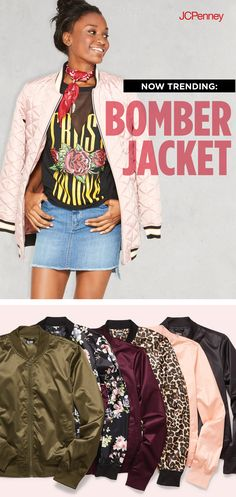Sub an oversized denim jacket for a satin bomber jacket for a back to school look that eases into the season. Pair it with a cold shoulder top, booties and jeans for a bomber jacket outfit that deserves extra style credit.