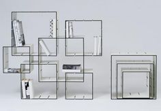 Modular bookshelves that work like a puzzle you arrange to fit your space and function.