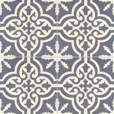 Collection StoneWash - décors 4 carreaux - Carreau TROUVILLE SW 33.10 - Couleurs  Matières