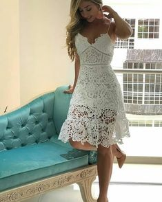 Simple Summer to Spring Outfits to Try in 2019 – Prettyinso Cute Dresses, Beautiful Dresses, Short Dresses, Prom Dresses, Summer Dresses, Dress Skirt, Lace Dress, White Dress, Dress Outfits