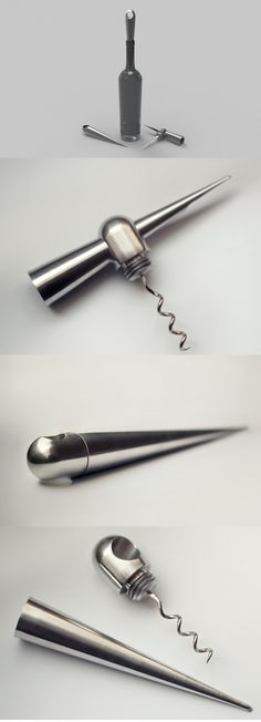 There's a certain elegance in wine tasting and so the same should be for the twist and pull! Drop, named for its shape, is an innovative redesign of the corkscrew that's a vital tool to the very last drop. #YankoDesign