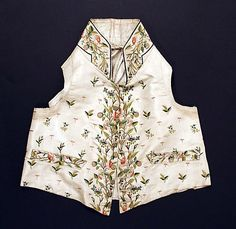 c1814 Waistcoat - French and made of silk. See more pictures of it at http://www.metmuseum.org/Collections/search-the-collections/80013796?rpp=60=2=waistcoat=107#