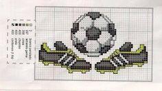 Ponto Cruz chuteiras e bola de futebol