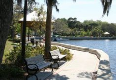 Sims Park, New Port Richey, Florida  Beautiful walk way from the park to the end...