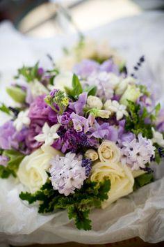 Flowers, Green, Purple, Bouquets