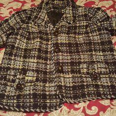 Tweed blazer A mix of browns, cream and yellow Tweed blazer...3/4 sleeves Grace Elements Jackets & Coats Blazers