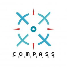 Red Blue Compass Logo Template Premium Download