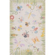 Momeni 'Lil Mo Classic Springtime Fun Ivory Cotton Rug (Ivory (8' x 10')), Beige Off-White, Size 8' x 10' #kidsroomideasunisex