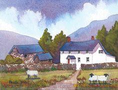 Original Watercolour.....Sheep On Welsh by Pamelajonesartstudio, £18.00