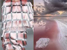 Marco de Vincenzo S/S 2015 & Pink Lake in Torrevieja (Spain) by Carlos Javier. Collage by Liliya Hudyakova
