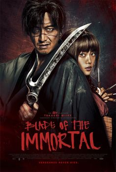 Blade of the Immortal We see in black and white a samurai named Manji (Takuya Kimura) fighting and killing a man in a street. Films Hd, Hd Movies, Movies To Watch, Movies Online, 2017 Movies, Movies Free, Horror Movies, Samurai, Querido John
