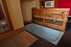 Tiny House Bathtub In Floor Idea