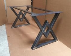 The Diamond Dining Table Base, Industrial Base, Sturdy Heavy Duty Dining Table Base