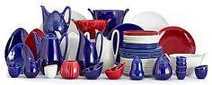 A Hertha Bengtsson 170 pieces of creamware service 'Blå Eld' by Rörstrand, - Bukowskis Kitchenware, Tableware, Swedish Design, Scandinavian, Tea Pots, Auction, Mid Century, Ceramics, Retro