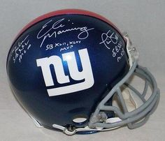 Eli Manning Phil Simms Ottis Anderson Signed New York Giants Proline Helmet - JSA Certified - Autographed NFL Helmets >>> You can get more details by clicking on the image.