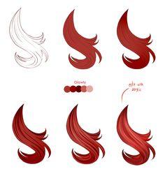 Hair tutorial – Paint tool SAI by Pittsdolls on DeviantArt Hair tutorial – Paint tool SAI by Pittsdolls Digital Art Tutorial, Art Drawings, Drawing Hair Tutorial, Drawings, Digital Painting Tutorials, Art, Anime Drawings Tutorials, Digital Painting, Art Tutorials