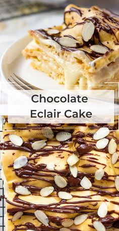 Lighter than air and utterly delicious Chocolate Eclair Cake Recipe for when your tooth craves something sweet. Distant relative of traditional Chocolate Eclair, this French dessert is perfect for special events or weekend baking with the kids.