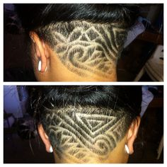 My tribal design undercut I got back in October done by a friend. It is a hassle trying to keep up with my hair since it grows out in about 2 weeks.