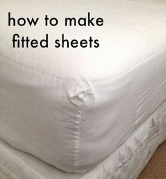Prompted by the arrival of our fabulous 100% linen sheeting range, here's a tutorial to show you just how easy it is to make your own fitted sheets. It might be easier to enlarge the images as you wor
