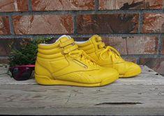 Vtg Reebok Classic Freestyle High Top Shoes Sz 10