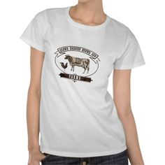 Brown Chicken Brown Cow Farms T Shirts