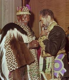 Africa's Great Sons Jomo Kenyatta First Pres of Kenya. And His Imperial Majesty Hailee Selassie of Ethiopia