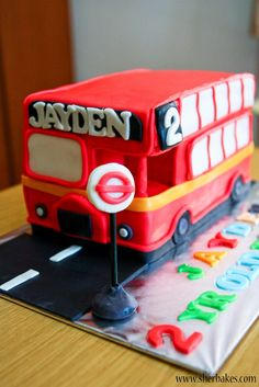 Life is too short, Eat Desserts- Bus Cake